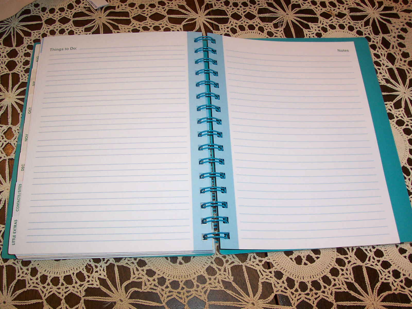 Monthly Calendar Notebook : Weekly monthly calendar tropical durable spiral