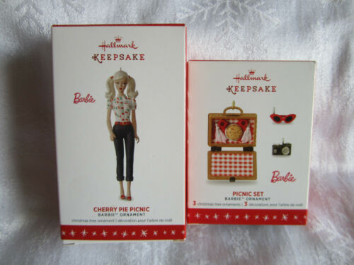 2016 Hallmark Ornament Cherry Pie Picnic Barbie Limited Edition Picnic Set NIB