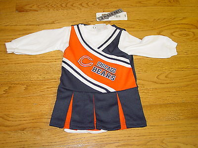 NFL 3/6 Months Chicago Bears Football Cheerleader Infant Halloween Costume Baby - Nfl Halloween Costumes