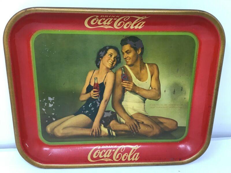 Authentic 1934 Tarzan Coca-Cola Serving Tray Weissmuller & O