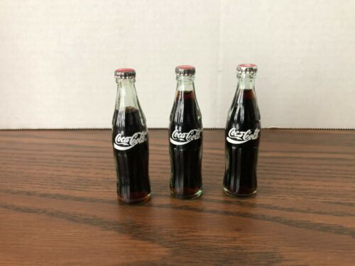 Mini Coca Cola bottles, (set of 3), regular, MBA