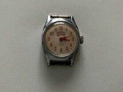 Vintage 1960's Ingersoll Mickey Mouse mechanical watch Disney US Time
