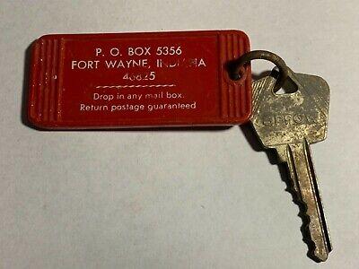 Vintage Hotel Motel Room Key Fob with Key Fort Wayne Indiana #118