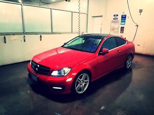 Mercedes Benz  Mercedes ,C350 , AMG Package , Panoramic , red