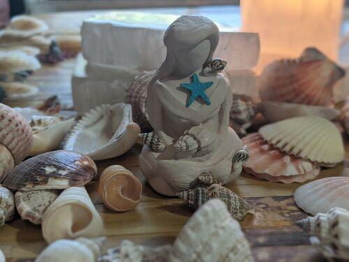 Yemaya Ocean Goddess Figure Shell Water Altar Totem Statue Nature Offering