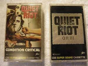 QUIET RIOT AUDIO CASSETTE TAPES Alberton Port Adelaide Area Preview