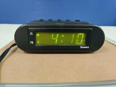ADVANCE LED Electric Clock/Alarm/Snooze Button/Petite Size/Battery Back-Up
