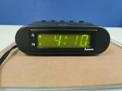 ADVANCE LED Electric Clock/Alarm/Snooze Button/Petite Size/Battery Back-Up