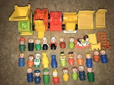 Vintage Fisher Price Little People Lot Of 35 ( 26 People ) Sesame Street