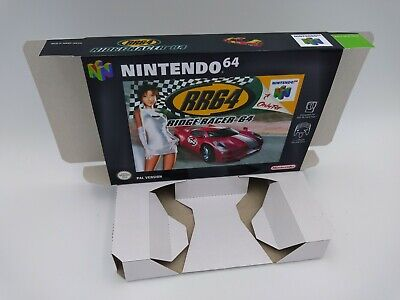Ridge Racer 64 - reproduction box with insert - N64 - Pal or NTSC - HQ !!