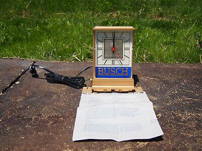 Vintage Anheuser Busch Beer Cash Register Mantle Light Up Bar Clock w/Paper NOS