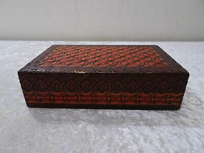 Wood Box Casket Little Box from Wood - Handmade - Vintage
