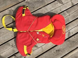 Child's Stohlquist PFD, life jacket, red
