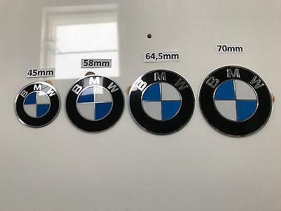 4 Neue Original BMW Plakette Plaketten Nabendeckel Emblem 70mm  gebraucht kaufen  Haltern am See
