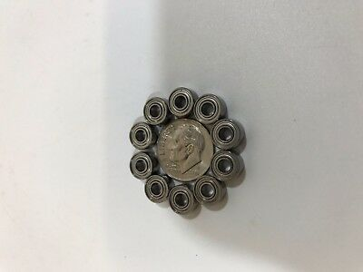 Qty. 10 693zz 3x8x4mm Miniature Ball Bearing Metal Shields New No Box