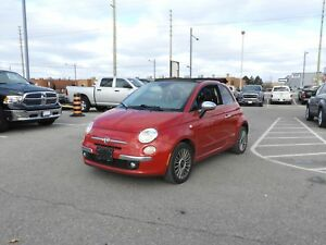 2012 FIAT 500c Lounge LEATHER/6 SPEED