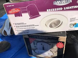 Selling new unused recessed lighting and a security light