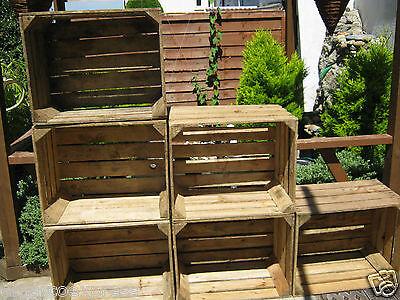 6 Wooden Crates Fruit Apple Boxes Vintage Home Decor  Vintage Style