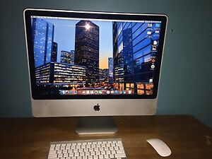 "24"" iMac with apple keyboard and mouse"