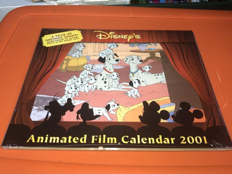 VTG Disney's Animated Film Classics Wall Art Calendar 2001 Sealed MIP Mulan Dog