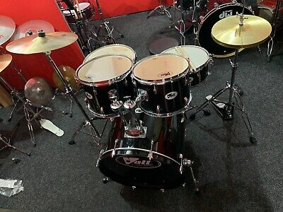 Volt Black Drum Kit Complete With Cymbals, Stands, Stool And Sticks