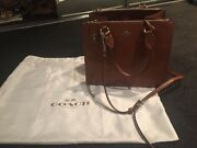 Coach brown leather handbag Pascoe Vale Moreland Area Preview