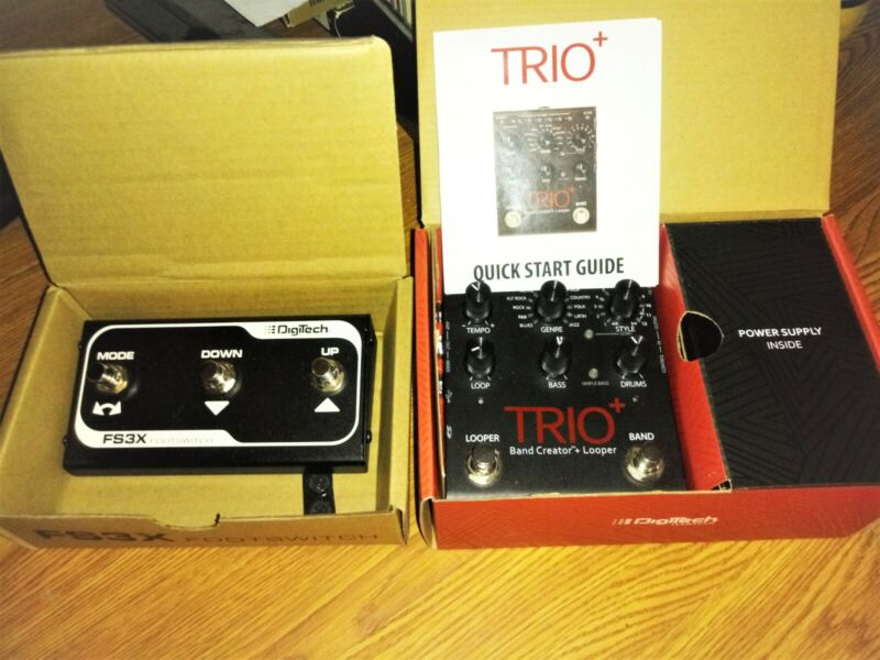 DigiTech Trio Plus Trio LooperBand Creator with Footswitch