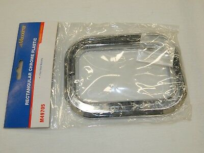 Maxxima M49705 Rectangular Chrome Plastic Trim Ring Grommet Cover