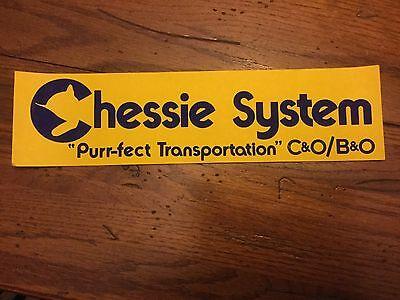 Vintage Chessie System Railroad Bumper Sticker Lot of 3