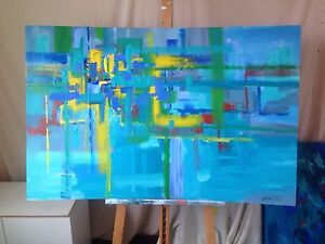 Abstract art - Geometric lines. (Very large) Mawson Lakes Salisbury Area Preview