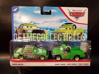 Disney Pixar Cars 2 Pack Dinoco Pitty Roger Wheeler 2018