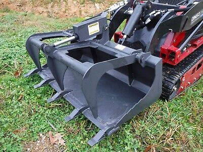 Toro Dingo Mini Skid Steer Attachment - 42 Tooth Bucket Grapple - Ship 149