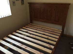 Timber (dark) colonial queen bed Sturt Marion Area Preview