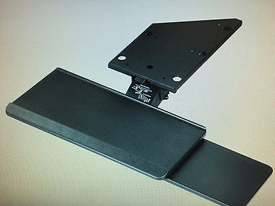 Keyboard Arm Tray Combo With Mouse Stand Track Mount Length 17 21.75 Or 23 Inch