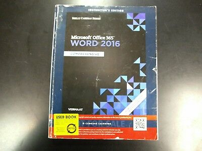 Microsoft Office 365 Word 2016 Comprehensive Shelly Cashman Series Vermatt Book