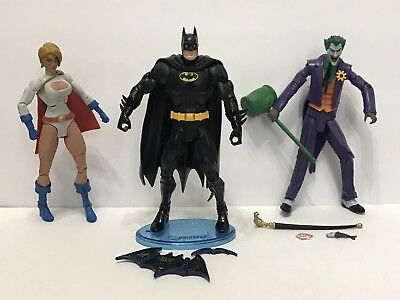 JOKER BATMAN POWER GIRL Lot Of 3 DC Universe Classics Figure Wave 10 Complete