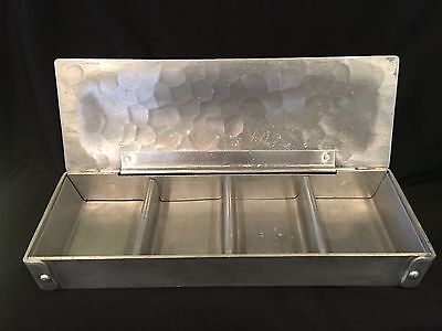 RARE 1940s WENDELL AUGUST FORGE Aluminum Box w/ Divider BITTERSWEET Motif