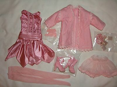 DELICATE BALANCE Ellowyne Wilde Tonner Doll OUTFIT Pink Dress Boots Amber