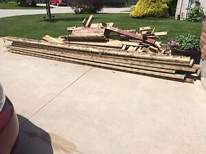 2x8x16 Peasure treated wood beams