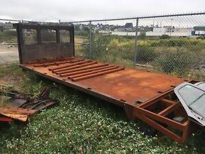 16' steel flat deck