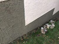 Parging repairs Carstairs Chestermere Okotoks Strathmore Airdrie