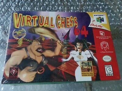Virtual Chess Nintendo 64 N64 NTSC USA Brand New Factory Sealed Rare