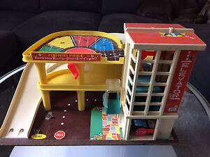 Vintage Fisher Price Garage and City Market