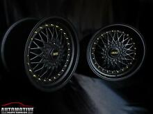 "17"" MATTE BLACK BBS RS STYLE WHEELS FOR 4x100 & 5X100!!! Hurstville Hurstville Area Preview"