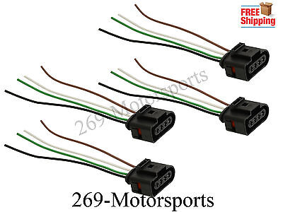 Ignition Coil Connector Repair Harness Plug Wiring For Audi VW Jetta Passat Qty4