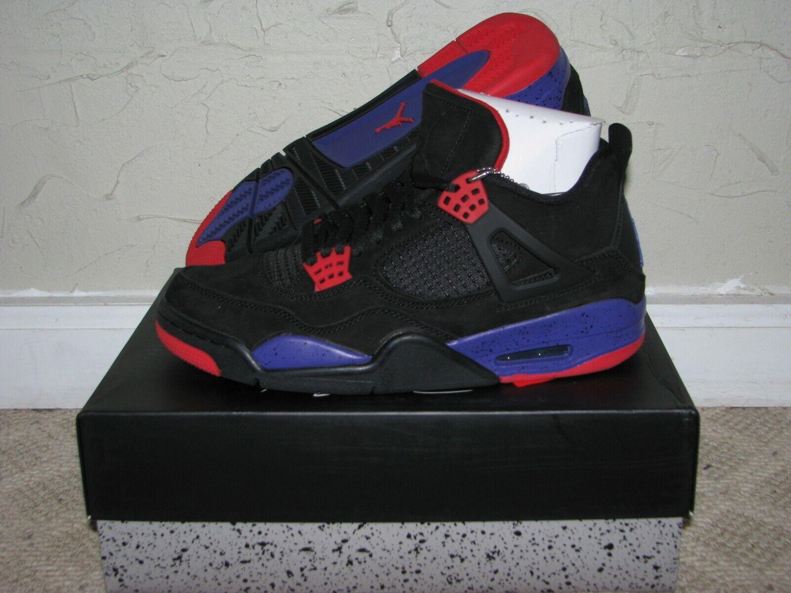 Nike Air Jordan Retro 4 IV NRG Raptors Black Purple AQ3816-065 AUTHENTIC