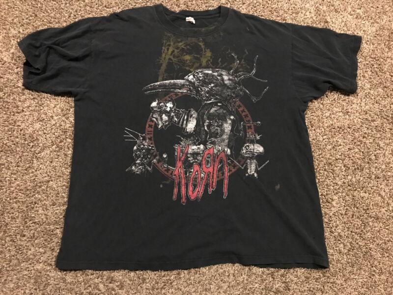 Concert T Shirt  Korn 2009 Tour Black Size 2X A9