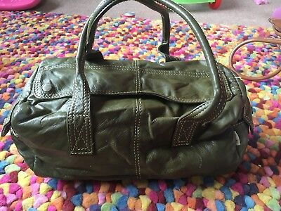 Ollie & Nic Olive Green Leather Handbag Valentine Gift Smart Office Winter Chic for sale  Shipping to South Africa