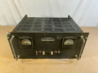 Vintage Lambda Regulated Power Supply Model C-1581m With Tubes