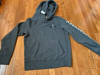 NWT Abercrombie & Fitch Men's Heather Gray Hooded Hoodie Sweatshirt Large Muscle